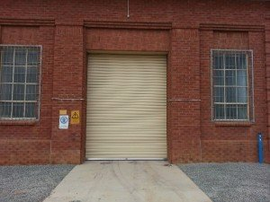new industrial roller door in adelaide